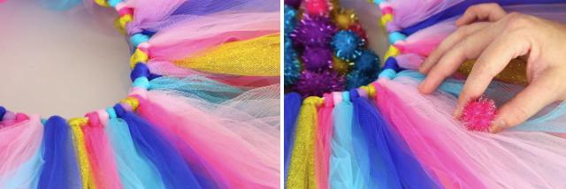 Разноцветная юбка ту-ту для костюма клоуна