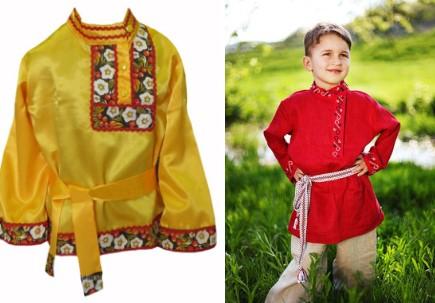 Желтая рубаха и мальчик в красной рубахе