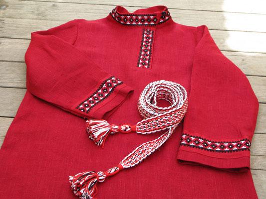 Красная рубаха с поясом