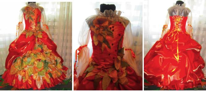 пышное платье осени
