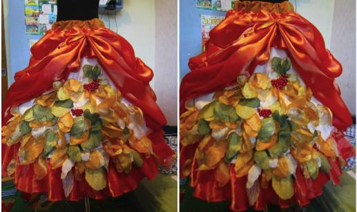 юбка осени с драпировкой