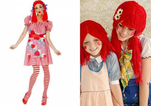 взрослая кукла в полный рост и справа две девочки-куклы
