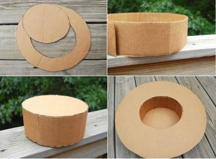 шляпа из картона