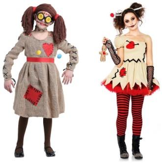 кукла в сером платье и кукла в бежевом