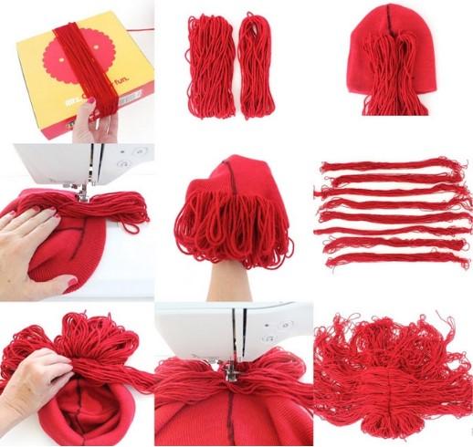9 картинок создания красного парика