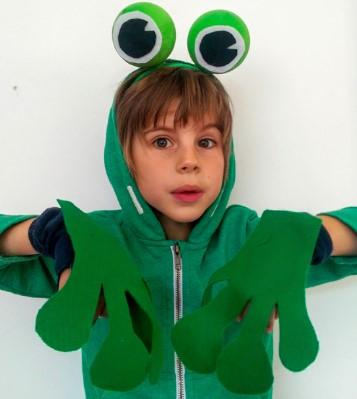 Ободок и лапки для костюма лягушки