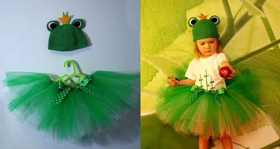 Костюм лягушки для девочки с шапочкой-маской