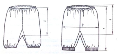 Схема панталон для костюма Мальвины