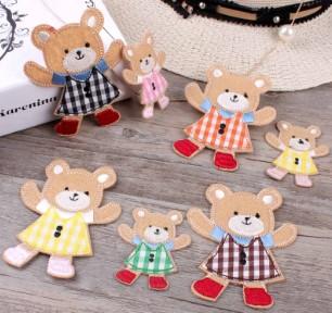 Тканевые медведи в платьях