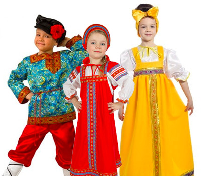 Детские костюмы на Масленицу