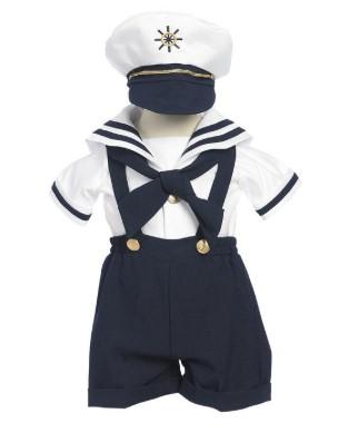 Костюм моряка с шортами и фуражкой