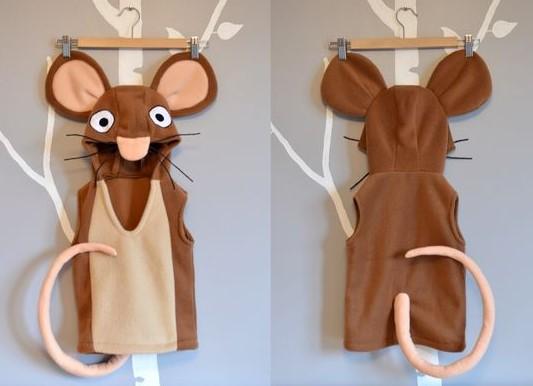 Костюм мышки для ребенка коричневый
