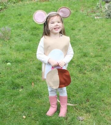 Бежевый костюм мыши для ребенка