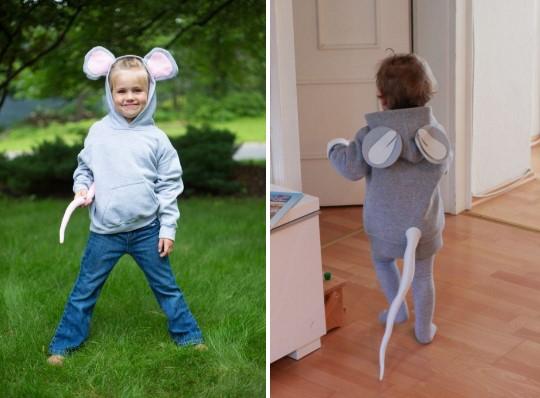 Костюм мышки для ребенка серый