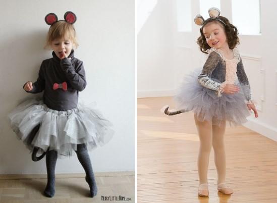Юбка и ободок для костюма мыши для девочки