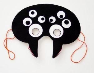 Маска с глазами для костюма паука