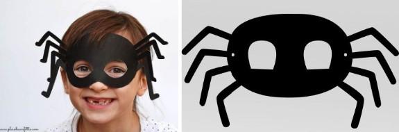 Маска с лапками для костюма паука
