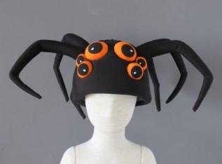 Шапка с глазами и лапками для костюма паука