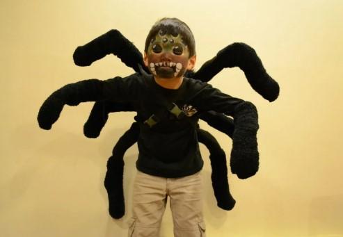 Грим на всё лицо для костюма паука