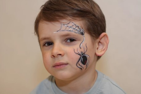 Рисунок на лицо для костюма паука