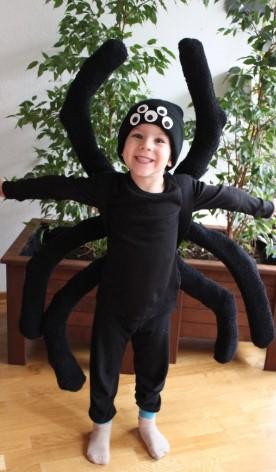 Детский костюм паука с шапкой с глазами