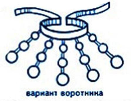 воротник-бусы с бумажной основой