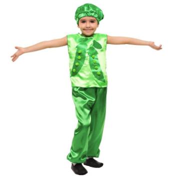 костюм зелёного горошка для мальчика