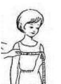 Рисунок девочки с измерительной лентой