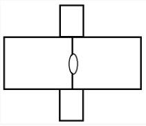 Прямоугольник с овалом посередине