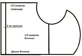 Схема ботинка