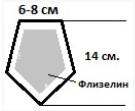 Пятиугольник с серой серединой