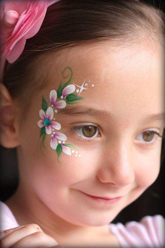 грим в виде цветов
