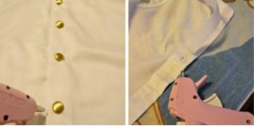 две картинки, белая руб. и розовый клеевой пистолет
