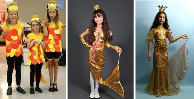 Варианты костюма рыбки для девочки