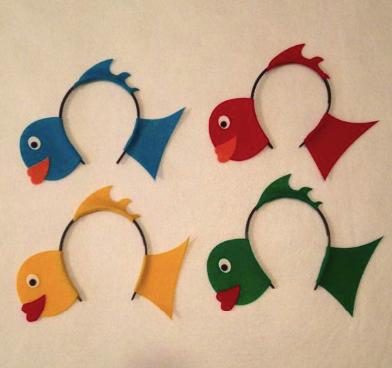 Ободок для костюма рыбки
