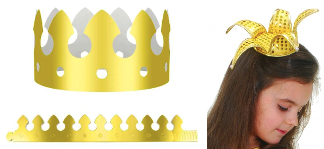 Корона для костюма рыбки из бумаги