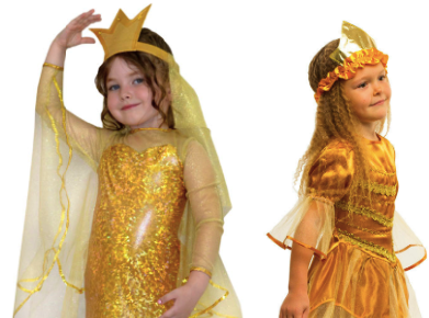 Костюмы Золотой рыбки с короной для детей