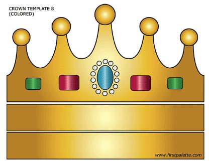 Цветной рисунок короны с украшениями для костюма рыбки