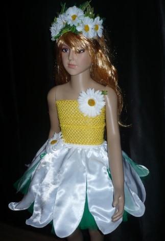 Детский костюм ромашки на манекене
