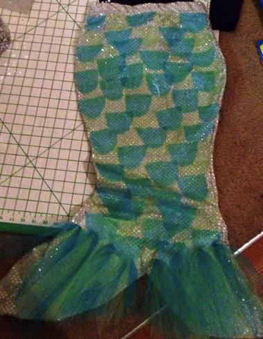 Как сделать юбку-хвост русалки