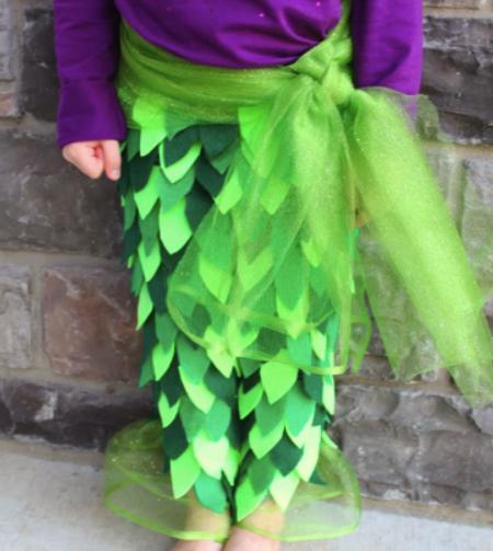 костюм русалочки для девочки своими руками