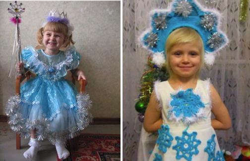 детский костюм снегурочки для девочки своими руками