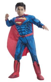 Красно-синий Супермен с мускулами