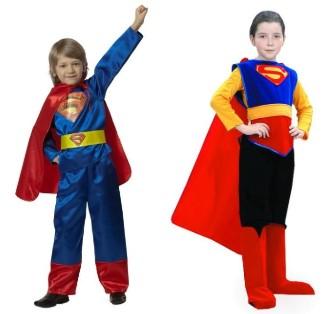 2 Супермена: красно-синий и в черных штанах
