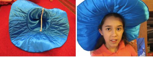 Шляпа для костюма Незнайки из ткани