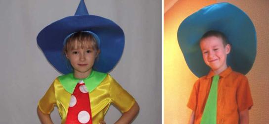 Шляпа для костюма Незнайки из бумаги