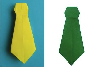 Галстук для костюма Незнайки из цветной бумаги