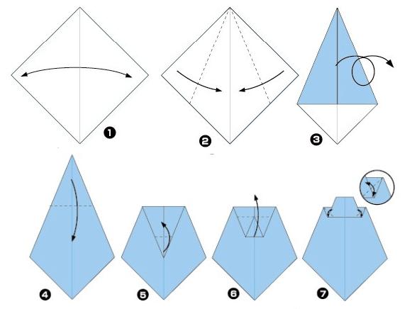 Как из бумаги сложить галстук для костюма Незнайки