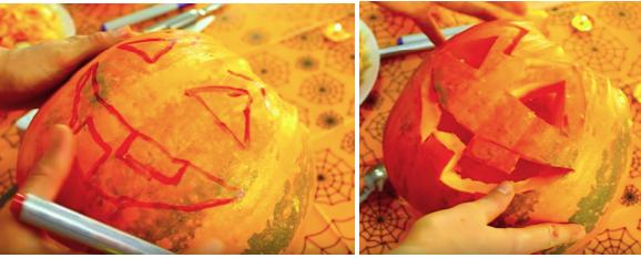 Как вырезать лицо на тыкве для Хэллоуина