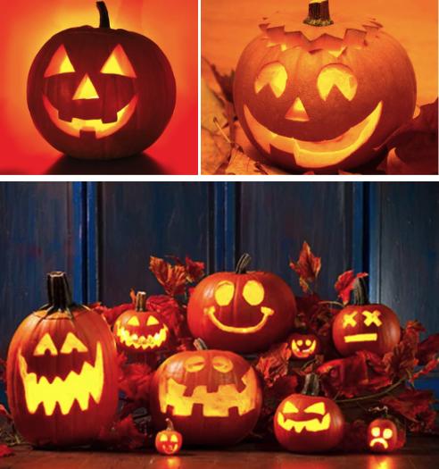 Примеры тыквы для Хэллоуина